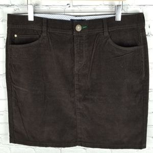 TOMMY HILFIGER   corduroy stitch detail skirt
